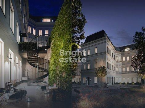 Дом с Атлантами - продажа двухуровневого таунхауса 227,4 кв.м. с ремонтом под ключ. ID 10166