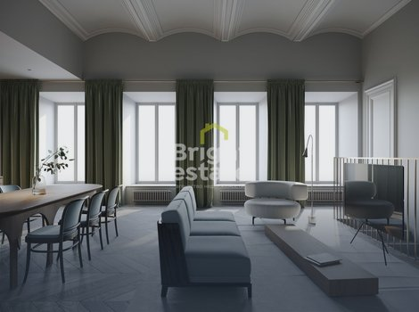 Дом с Атлантами - продажа двухуровневого пентхауса 308,7 кв.м. с террасой. ID 10309