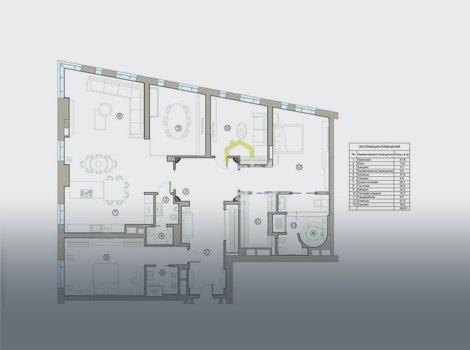 Купить большую квартиру 240 кв.м. в Доме на Мосфильмовской. ID 10933