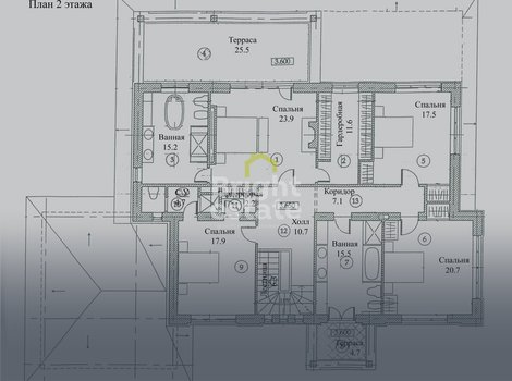 Купить 3-уровневый загородный коттедж в поселке Резиденции Бенилюкс. ID 10984