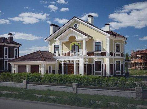 Купить двухэтажный коттедж, проект Луиза, в поселке Миллениум Парк. ID 11602