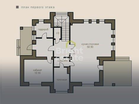 Купить загородный коттедж без отделки в поселке Монтевиль, проект Бергамо. ID 12080