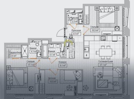 Продажа городских апартаментов в жилом комплексе Maison Rouge. ID 12915