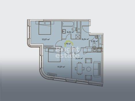 ЖК Врубеля 4 — Продажа городской квартиры с дизайнерскими интерьерами. ID 13217