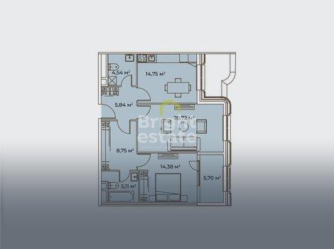 Готовая к проживания квартира в жилом комплексе Врубеля 4. ID 13220