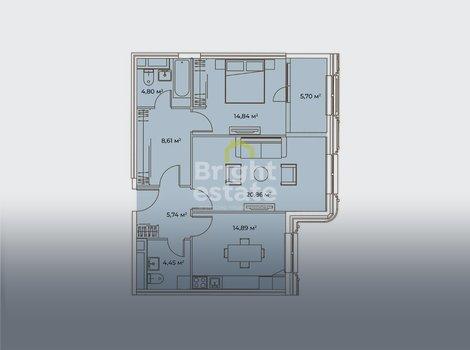 Продажа 2-комнатной квартиры в жилом комплексе Врубеля 4. ID 13222