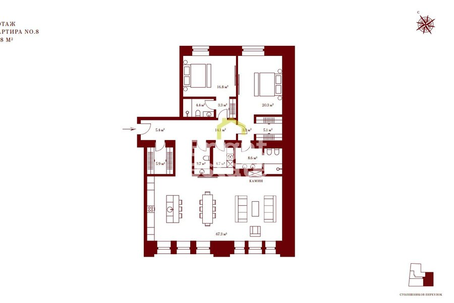 Продажа апартаментов под ключ в ЖК Stoleshnikov 7, ЦАО, Тверской район. ID 10150