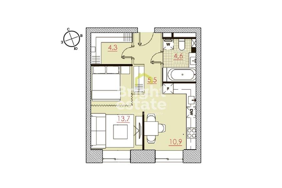 Продажа квартиры 39 кв.м. в ЖК Большевик на Ленинградском проспекте. ID 10381