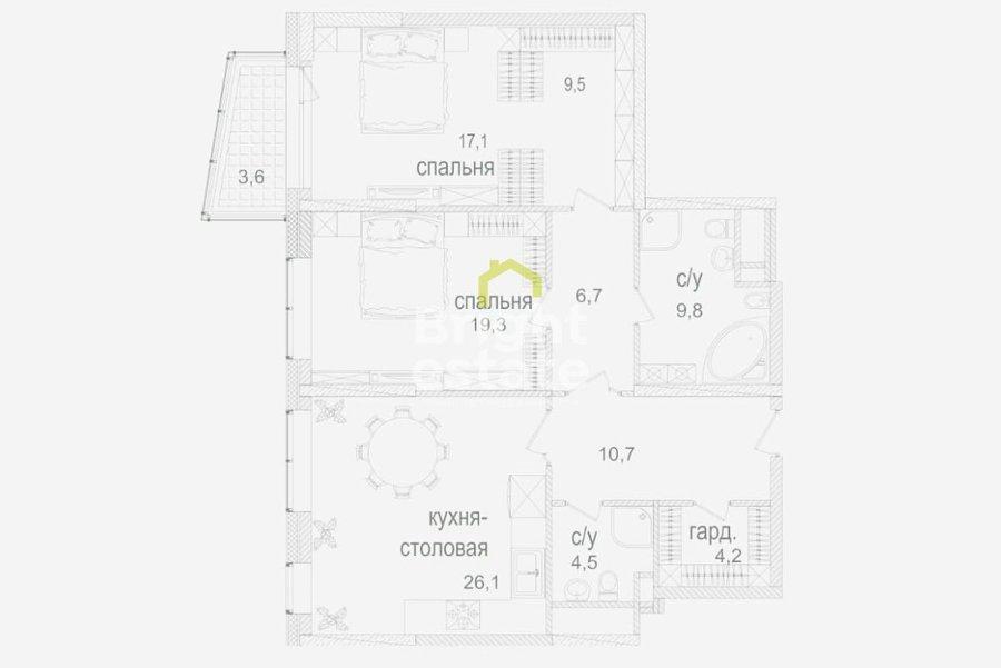 Продажа 3-комнатной квартиры в жилом комплексе Долина Сетунь. ID 10905