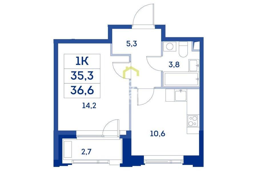 Купить квартиру в жилом комплексе Now. ID 11441