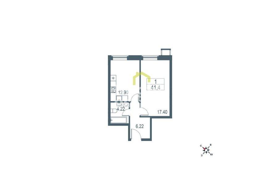 Купить однокомнатную квартиру в жилом комплексе Big Time. ID 11492
