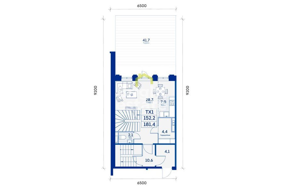 Продажа городского таунхауса 152,2 кв.м. в квартале Now. ID 11547