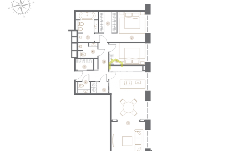 Купить квартиру в клубном доме Turgenev. ID 11757