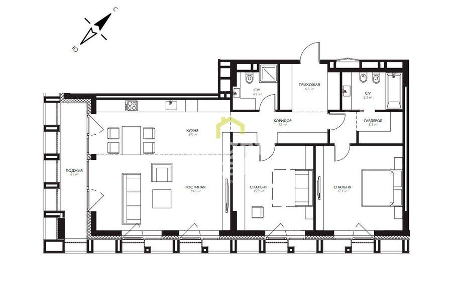 Купить квартиру в жилом комплексе EgoDom. ID 11868