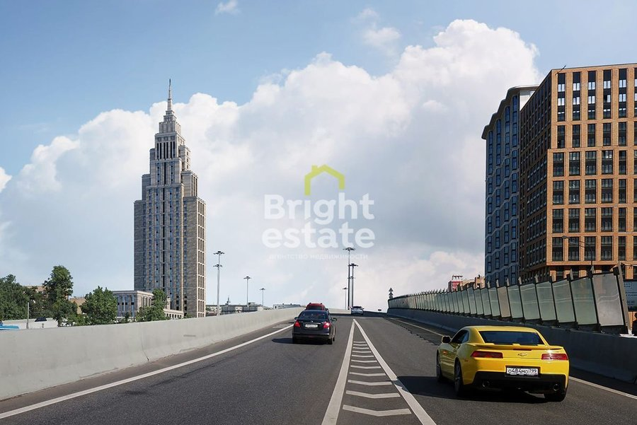 Купить 3-комнатные апартаменты с видом на Кремль в ЖК Alcon Tower. ID 12377