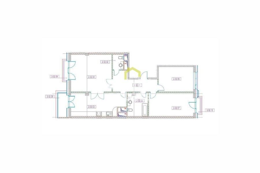Купить квартиру в Клубном доме на Котельнической набережной. ID 12487