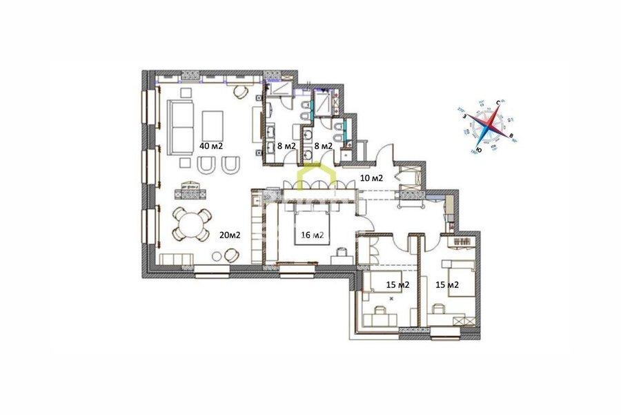 Продажа готовой квартиры в жилом комплексе Трилогия. ID 12643