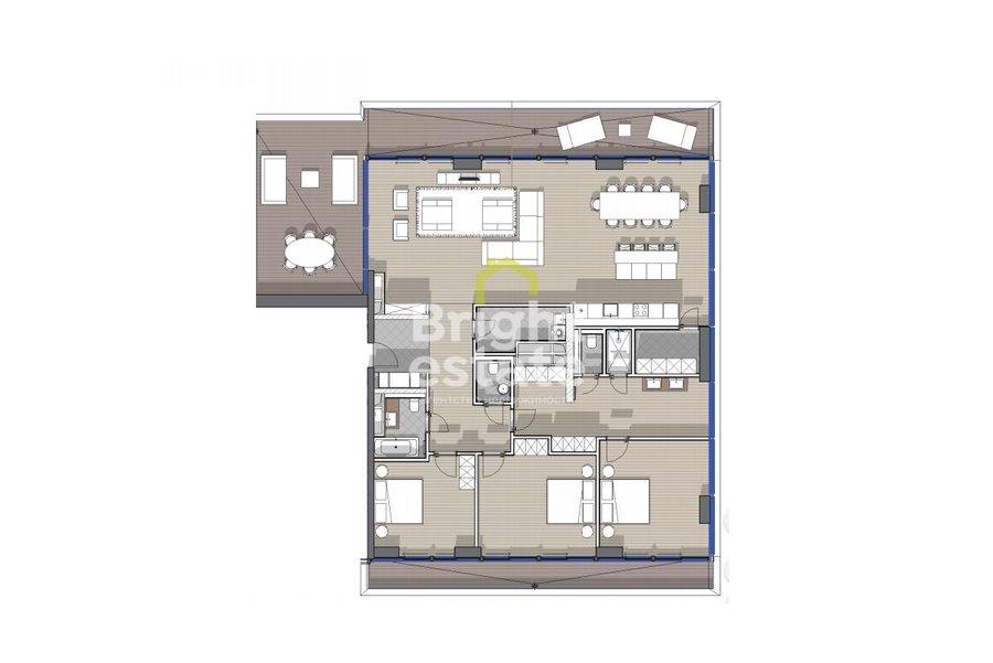 Купить пентхаус 222 кв.м. в жилом комплексе Вишневый сад на Мосфильмовской. ID 9905