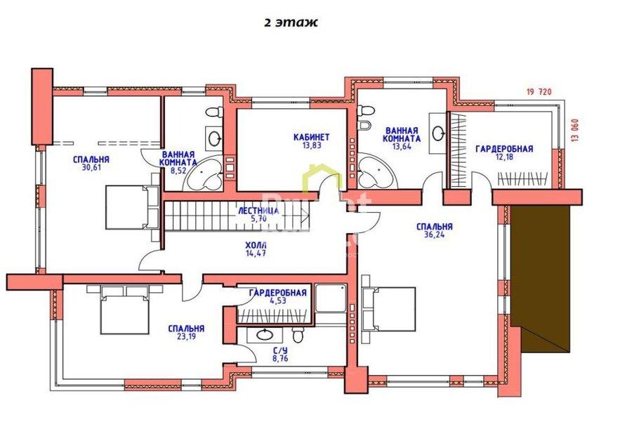 Купить дом 368 кв.м. в поселке Подмосковные просторы на Новой Риге. ID 9920