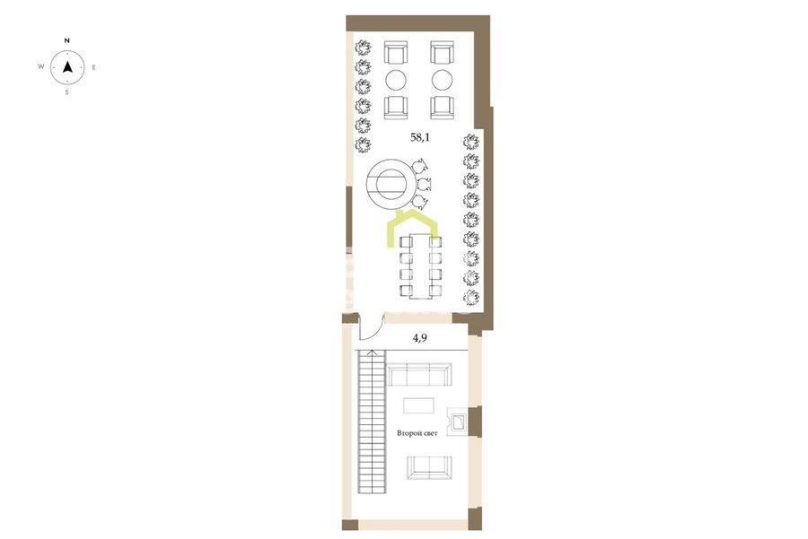 Двухуровневый пентхаус 183 кв.м. в жилом комплексе РэдСайд. ID 9926